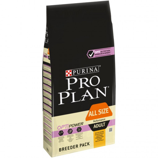07613035122710 C1L1 Pro Plan Dog Rich in chicken 18kg 43897839 e1565128044658 - Purina Pro Plan - All Size Adult Dog Performance Chicken