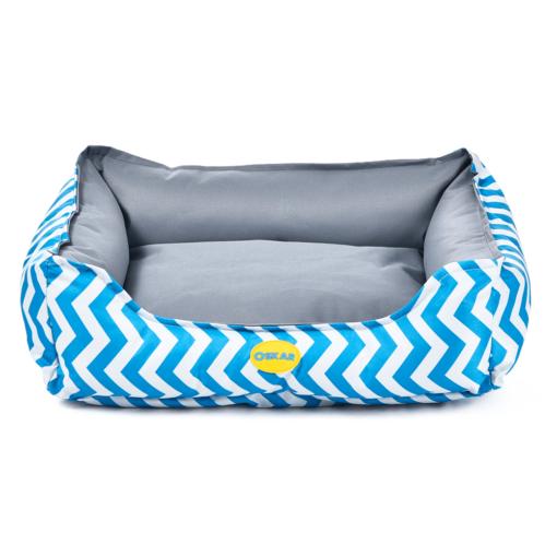 - OSKAR Zigzag Bed Blue