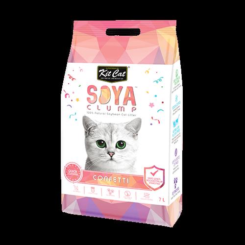 12e0e90f4d299f4a3897ab94fd9a1b89 - Kit Cat Soya Clump Soybean Litter - Confetti 7L