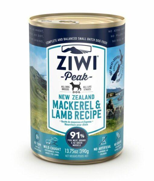 15 9 - ZiwiPeak - Mackerel & Lamb Recipe Canned Dog Food (390 g)