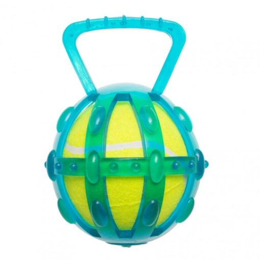15301 1 - Tpr Cage With 5″ Tennis Ball- Transparent Version – Blue