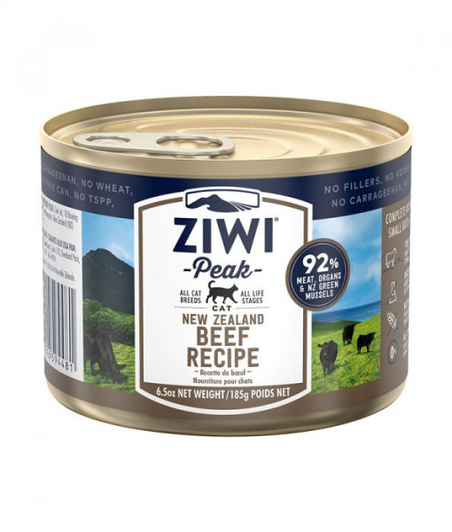 16 8 - ZiwiPeak - Beef Recipe Canned Cat Food (185G)