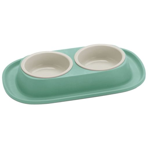 17 4 1 - Georplast Soft Touch Plastic Double Bowl Green