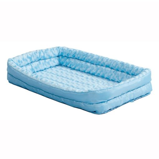 18 QuietTime Powder Blue Double Bolster Bed 2 - Midwest Homes QuietTime Powder Blue Fashion Double Bolster Bed