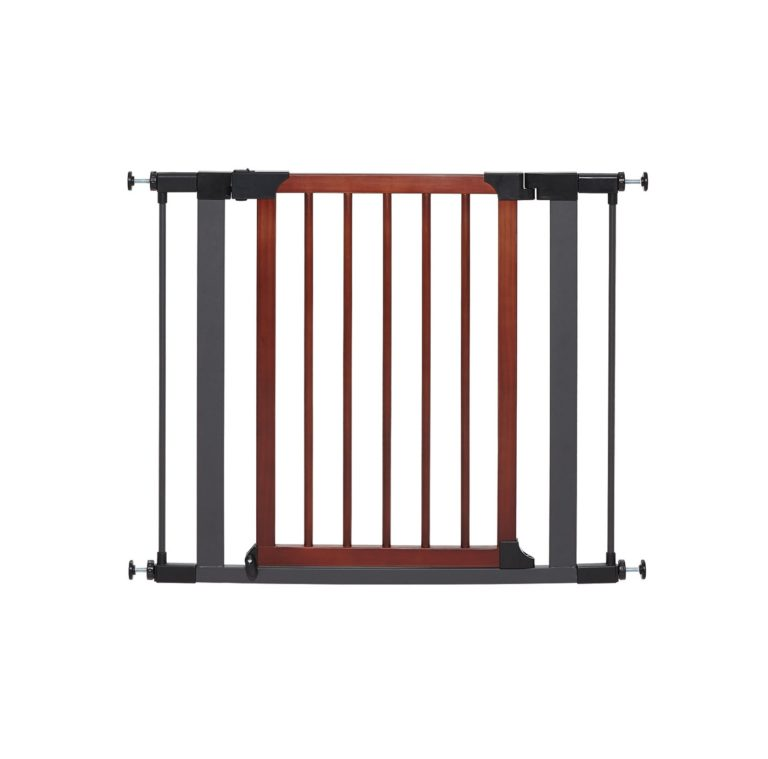 "1882 - 29"" Tall Steel Pet Gate With Decorative Wood Door"