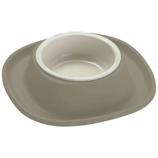20050 ancient light grey 1 - Georplast Soft Touch Plastic Single Bowl Grey