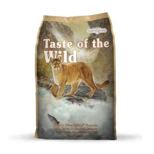 Canyon River Feline dry 115 116 2 - Taste of The Wild - Canyon River Feline Recipe with Trout & Smoked Salmon