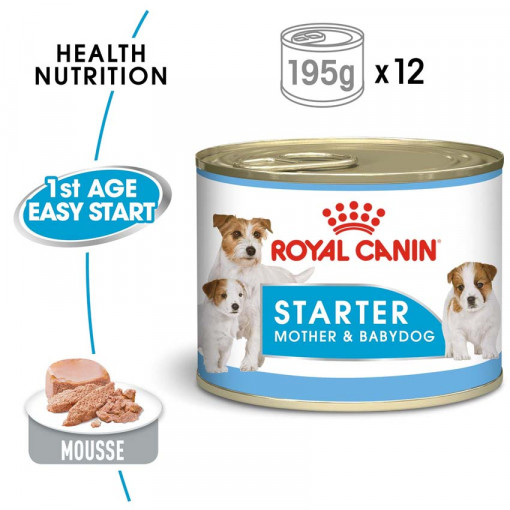 rc shn wet startermousse mv eretailkit - Royal Canin - Canine Health Nutrition Starter Mousse