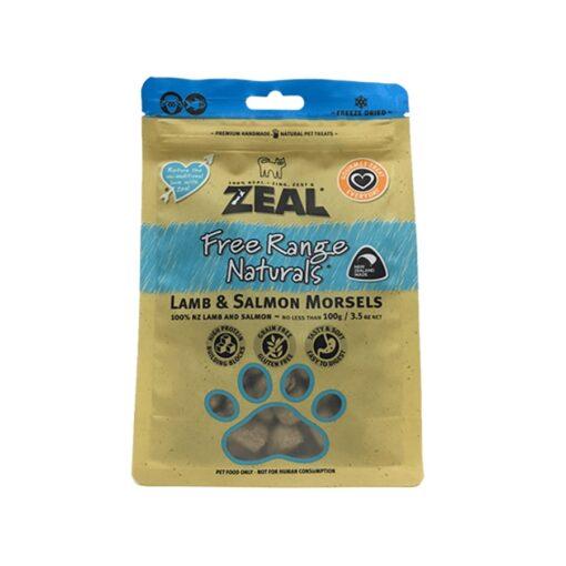 zeal free range lamb salmon - Zeal - Dried Lamb & Salmon Morsels (Cat) (100 g)