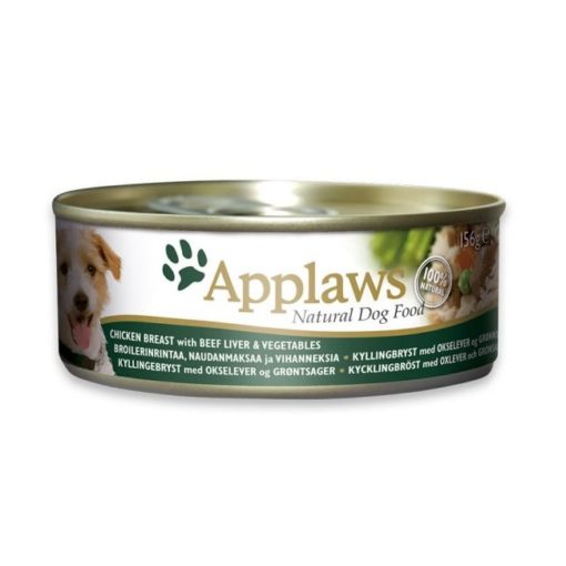 490689 - Applaws - Adult Dog Chicken Breast, Beef Liver & Vegetables Tin (156 g)