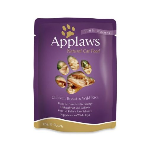 492072 2 - Applaws - Chicken Breast with Wild Rice Pouch (70 g)
