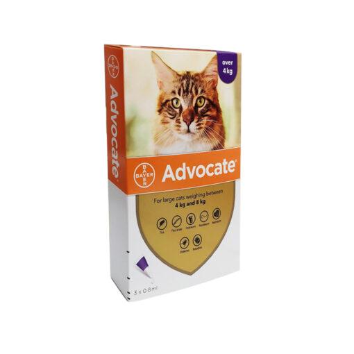 1016885 - Advocate For cats 4 to 8kilo (3 pipettes)
