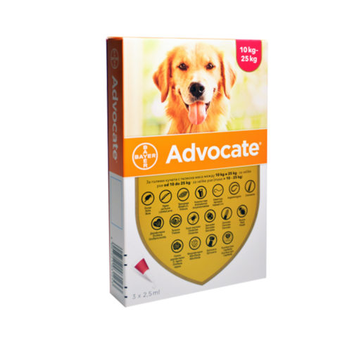 1016915 - Advocate Dog Large 10-25kg (3 pipettes)