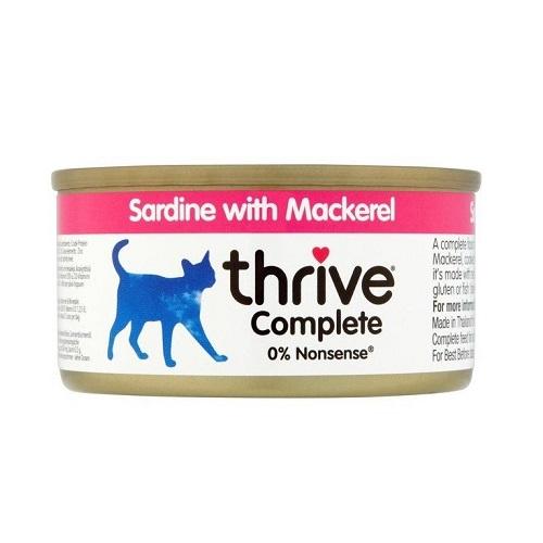 200525 2 - Thrive - Complete Cat Sardine w/ Mackerel in Gravy (75g)