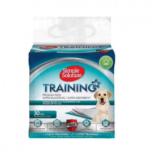 Puppy Training Pads 1 - Simple Solution Puppy Training Pad - 30 Pack