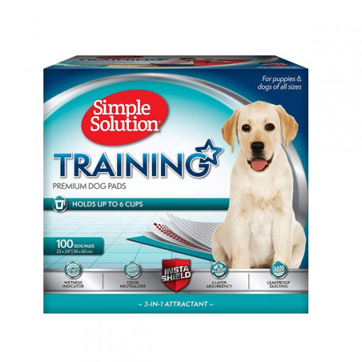 Training Pads 100 1 - Simple Solution - Premium Dog and Puppy Training Pads Pack of 100