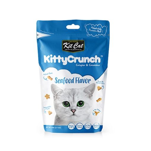 KitCat Kitty Crunch Seafood Flavor 1 - Kitty Crunch Seafoods Flavor (60g)