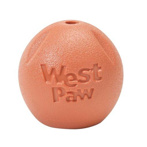 Rando orange 1 - West Paw-Rando Dog Toy Orange