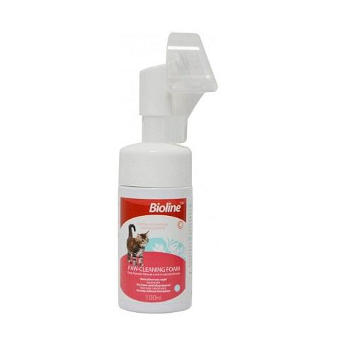 bioline cat paw cleaning foam 100ml - Bioline - Paw Cleaning Foam 100ml (cat)