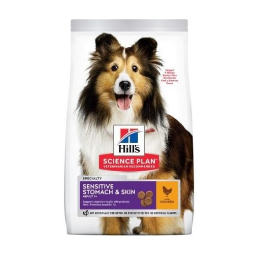 604385 2 - Hill's Science Plan - Adult Sensitive Stomach & Skin Canine w/Chicken