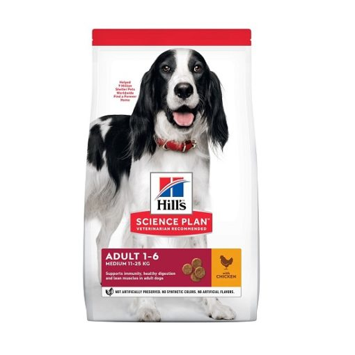 DOG Adult Medium Chicken Ongoing Front Packaging - Hill's Science Plan Medium Adult Dog Food With Chicken