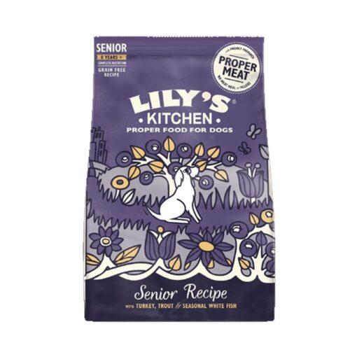 senior recipe p - Lily's Kitchen Adult 8plus Senior Recipe Turkey, Trout and Seasonal White Fish