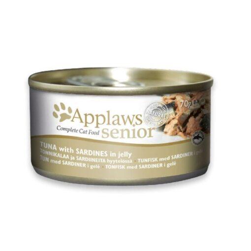 431914 2 - Applaws Cat Senior Tuna with Sardines 70g Tin