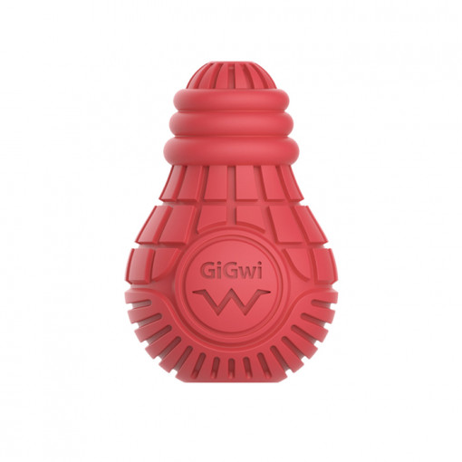 Untitled 1 2 - Red Bulb Dispensing Treat Dog Toy – Medium