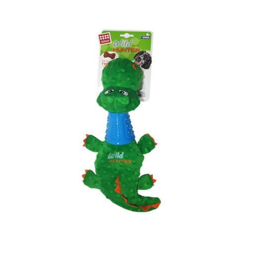 Untitled 2 - Crocodile Plush Dog toy with TPR Neck