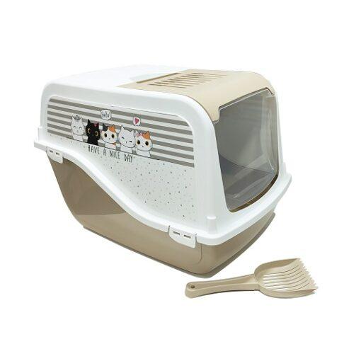 ariel top free tan - Cat Litter Box ARIEL(TOP FREE) with Cat Clipart (Tan)