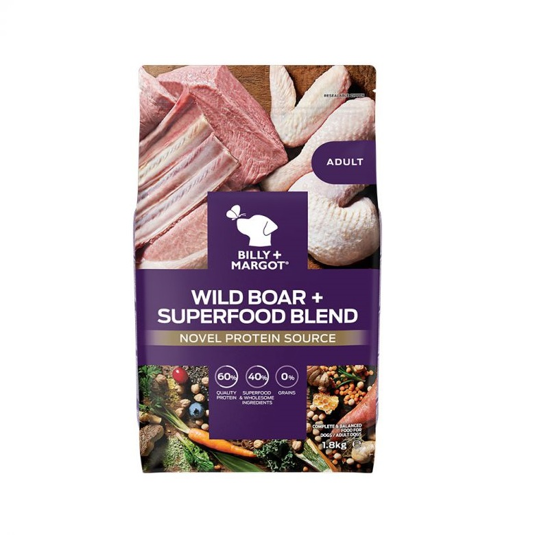300873 1.8kg 1 - Billy & Margot Adult Boar and Superfood Blend Dry