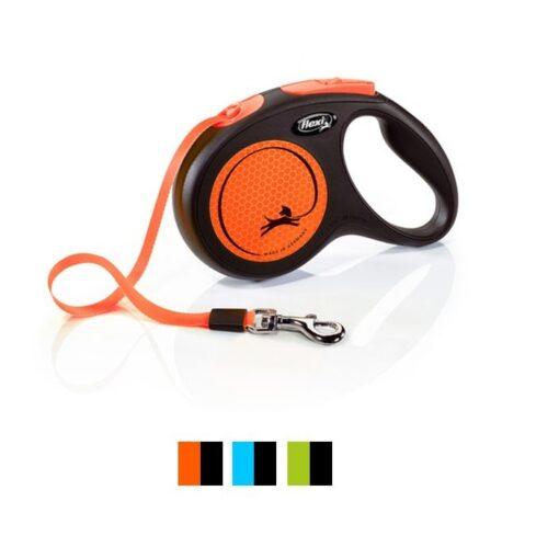 300914 1 - Flexi New Neon Tape Retractable Dog Leash
