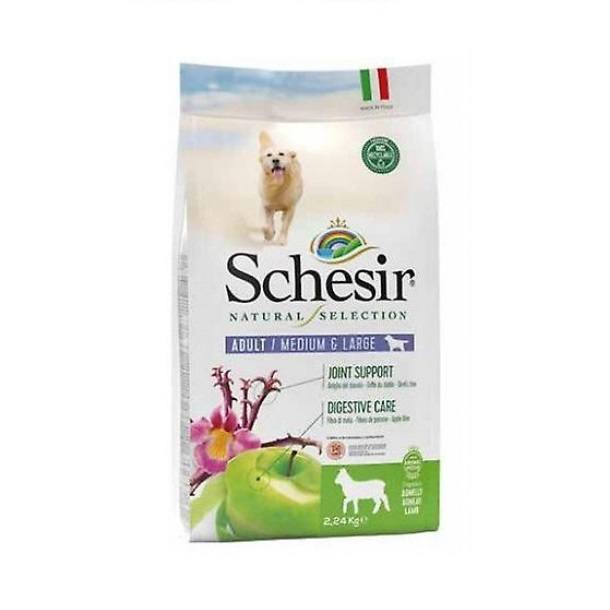 8005852102232 500x500 1 - Schesir Natural Selection Dry Food For Adult Medium & Large Dogs Lamb