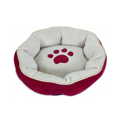 26542 1000x1000 1 - Petmate Aspen Pet 18 Sculptured Round Bed SSS Red