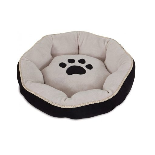 26542 2 1000x1000 1 - Petmate Aspen Pet 18 Sculptured Round Bed SSS Black