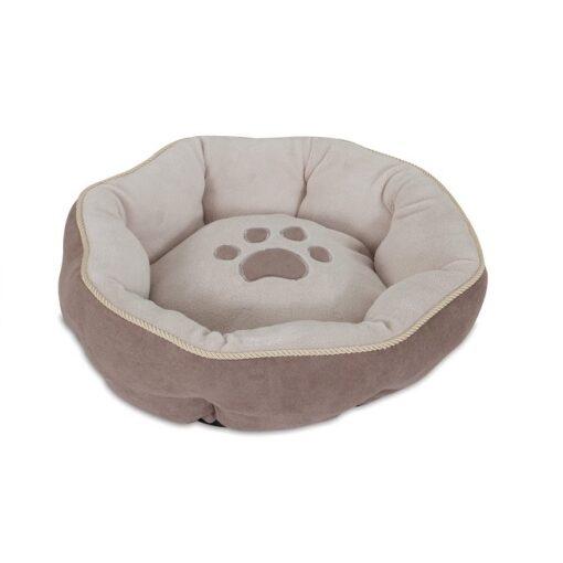 2654203 1000x1000 1 - Petmate Aspen Pet 18 Sculptured Round Bed SSS Brown