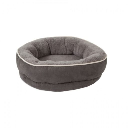 26950 1000x1000 1 - Petmate Aspen Pet 20inch Structured Round Bed Gray