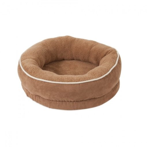 26950A 1000x1000 1 - Petmate Aspen Pet 20inch Structured Round Bed Brown
