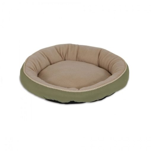 """28375C C - Petmate Aspen Pet 18"""" Round Bed With Eliptical Bolster SSS C"""