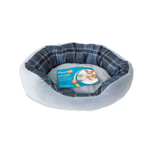 80397 blue - Petmate Aspen Pet 20 X 15 Oval Lounger Blue