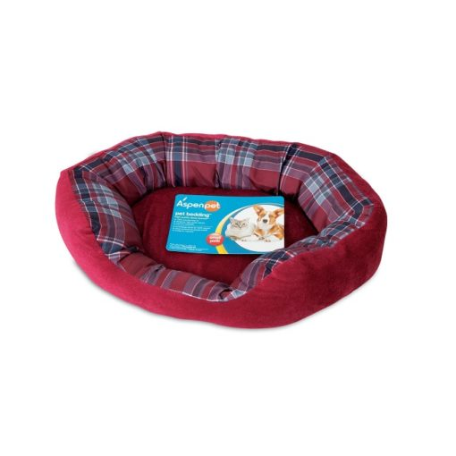 80397 red - Petmate Aspen Pet 20 X 15 Oval Lounger Red