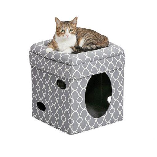 Cat Cube grey 1 - Curious Cat Cube – Grey