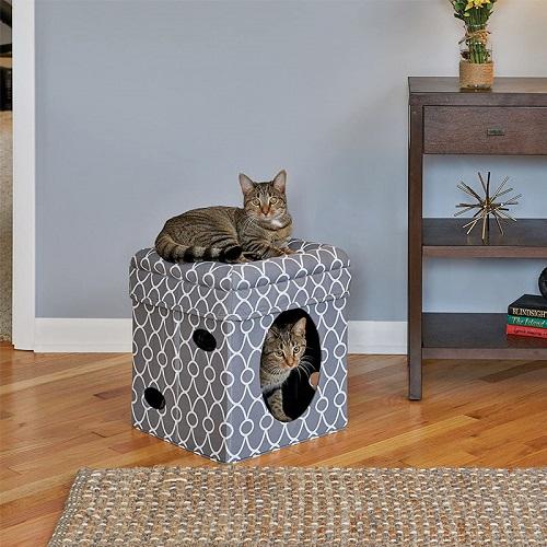 Cat Cube grey 2 - Curious Cat Cube – Grey