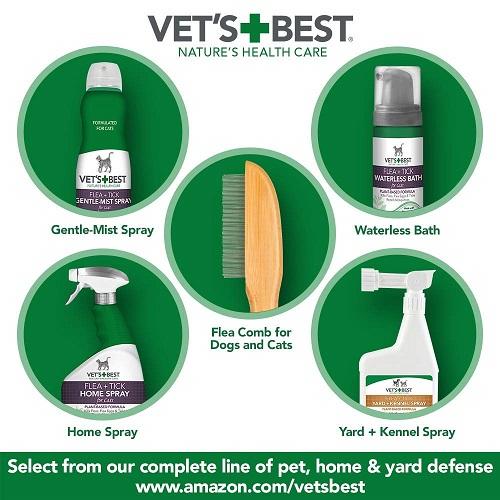 Flea Tick Home Spray CATS 6 - Natural Flea and Tick Home Spray for CATS, 32 oz