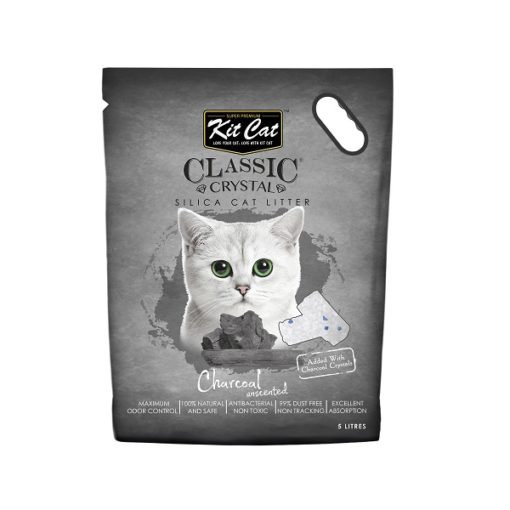 Kit Cat Classic Charcol - Kit Cat Classic Crystal Cat Litter – Charcoal Unscented (5 Litres)