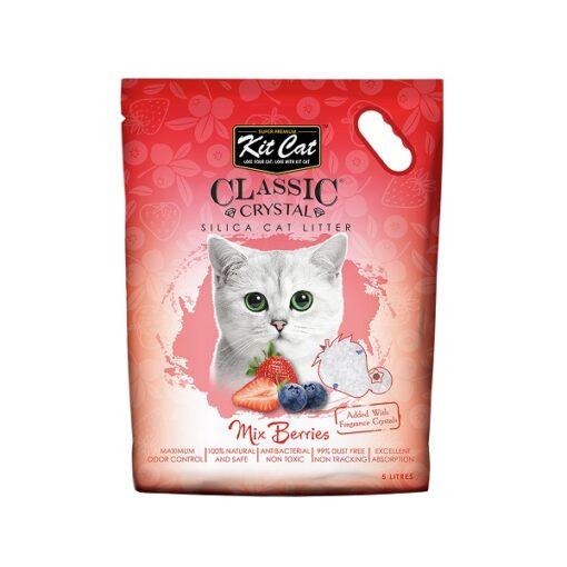 Kit Cat Classic Crystal Mix berries - Kit Cat Classic Crystal Cat Litter – Mix Berries (5 Litres)