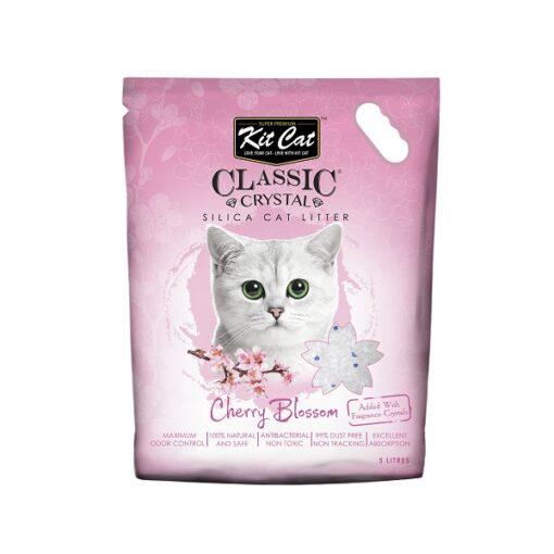 Kit Cat Classic Crystal cherry blossom - Kit Cat Classic Crystal Cat Litter – Cherry Blossom (5 Litres)