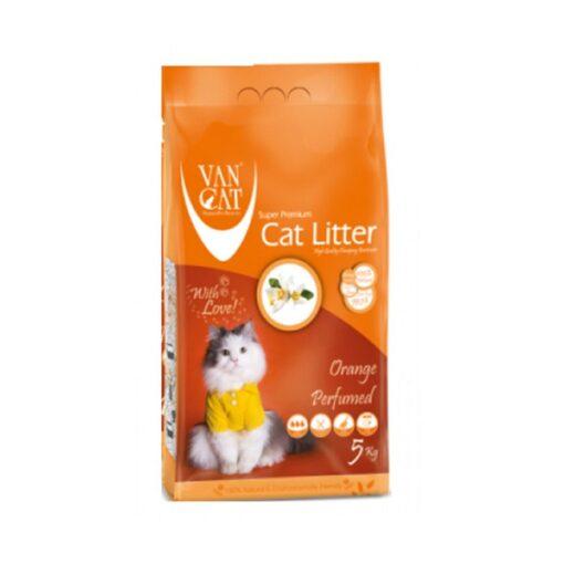 N11628809A 1 - Van Cat White Bentonite Clumping Cat Litter Orange 5Kg