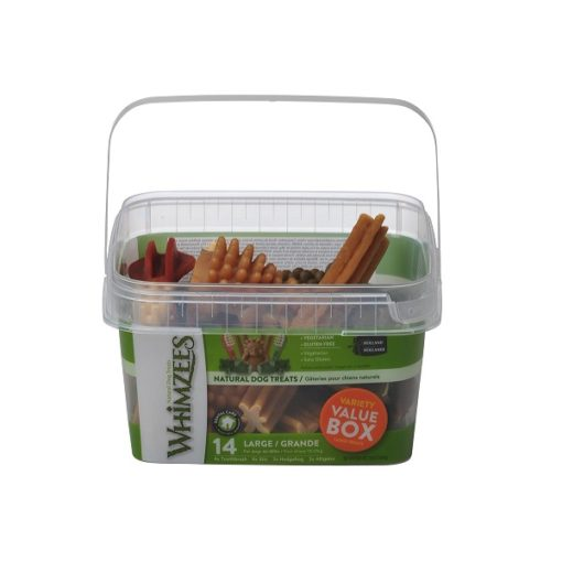 Whimzees Variety Value Box Large - Whimzees Variety Value Box Large 14 pcs