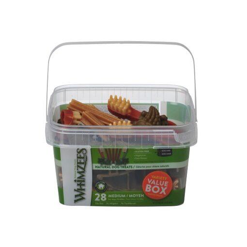 Whimzees Variety Value Box Medium - Whimzees Variety Value Box Medium 28pcs